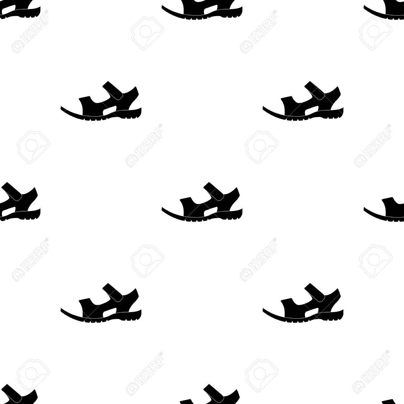 Único Icono Pie Verano Stock Hombres Símbolo Marrón Sandalias Cuero DesnudoDiferentes Negro De Photo Un Patrón Vector En Zapatos eHYW9DIE2