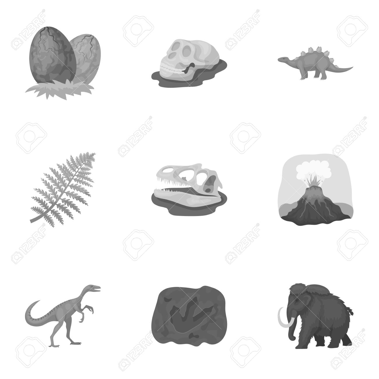 Image of: Mammals Ancient Extinct Animals And Their Tracks And Remains Dinosaurs Tyrannosaurs Pnictosaursdinisaurs 123rfcom Ancient Extinct Animals And Their Tracks And Remains Dinosaurs