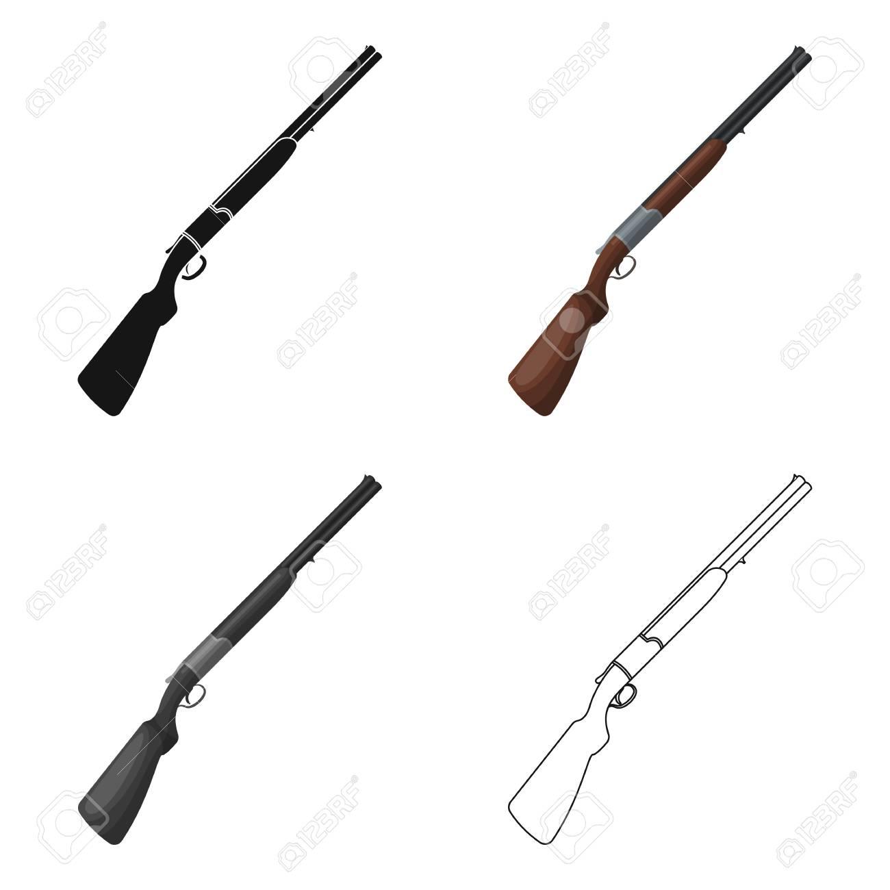 Dessin Fusil De Chasse fusil de chasse. fican safari icône unique dans le dessin vectoriel