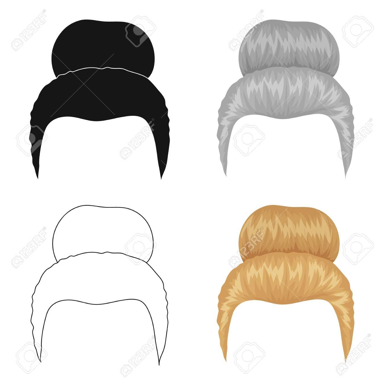 Cheveux Blonds Avec Un Bardeau Peigne De Coiffure Icone Unique Dans
