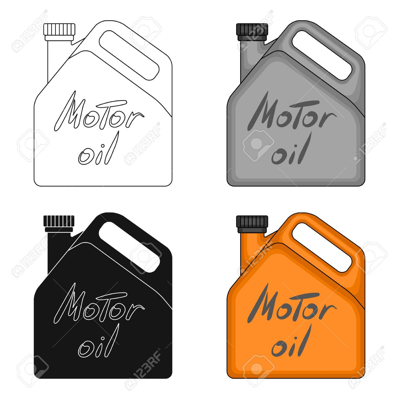 Can Of Engine Oilr Single Icon In Cartoon Style Vector Symbol