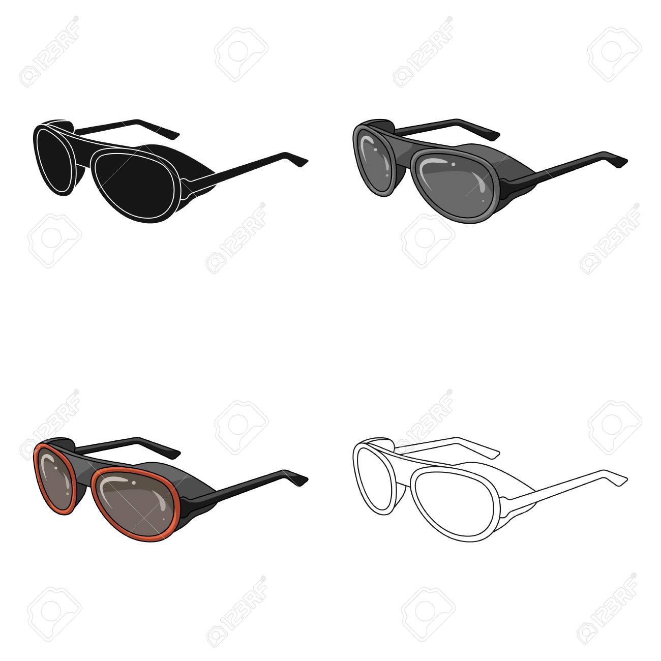 Style De Bande Dessinée Icône Lunettes De Soleil Noir