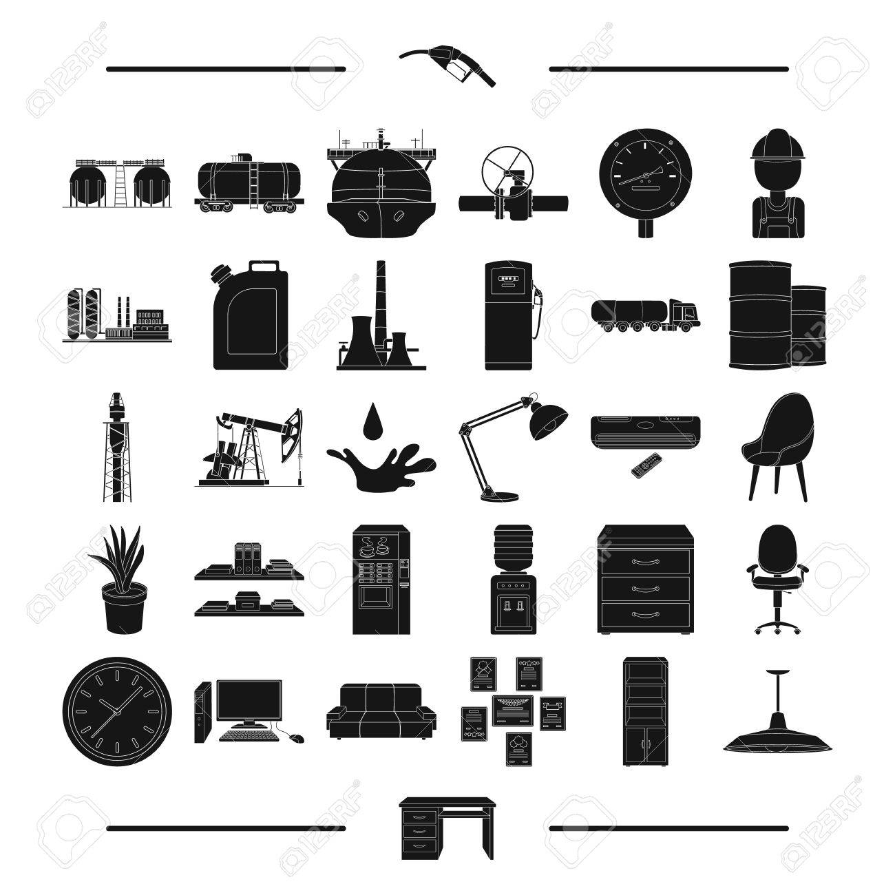 Simple table free other icons - Equipment Progress Ecology And Other Web Icon In Black Style Table Industry