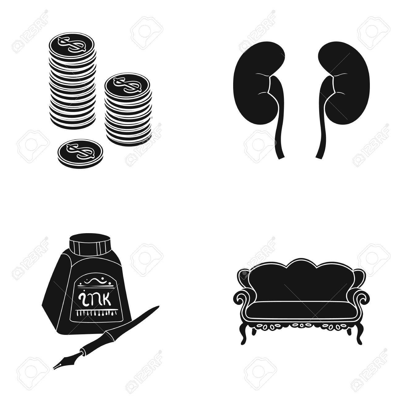 Möbel Medizin Business Und Andere Web Symbol In Schwarz Style