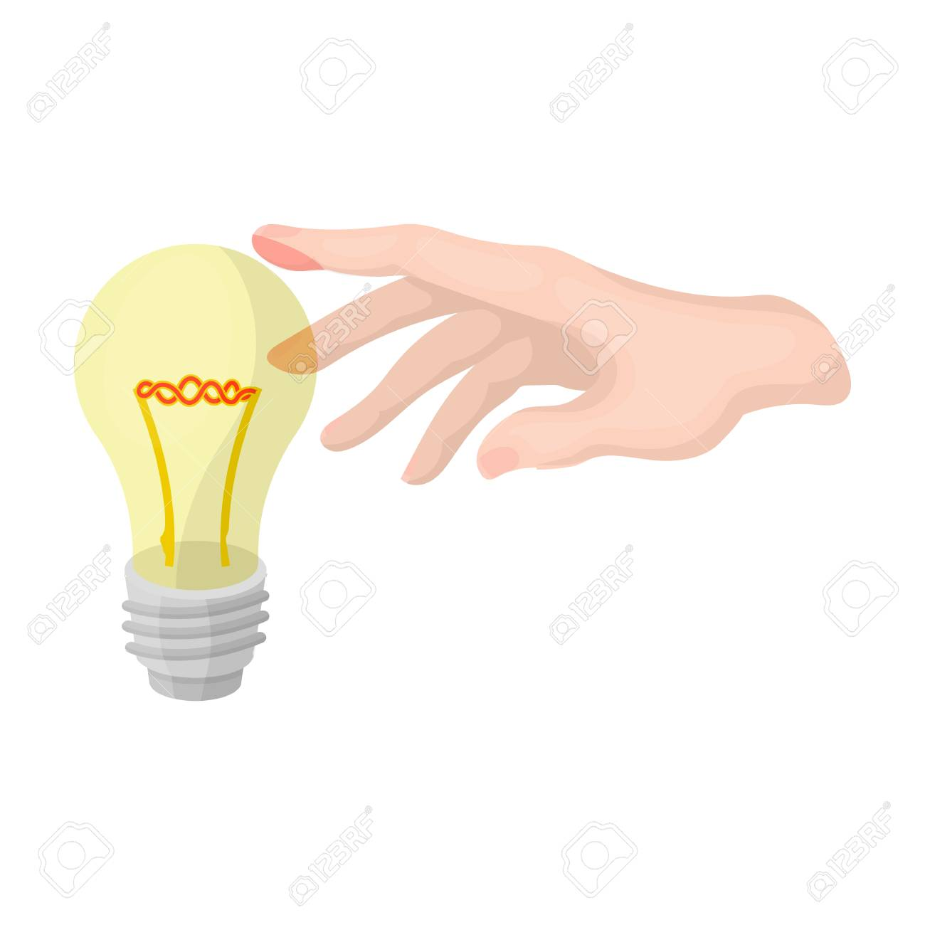 Replacement Of An Electric Bulb. Incandescent Lamp Single Icon ... for Incandescent Lamp Symbol  589hul