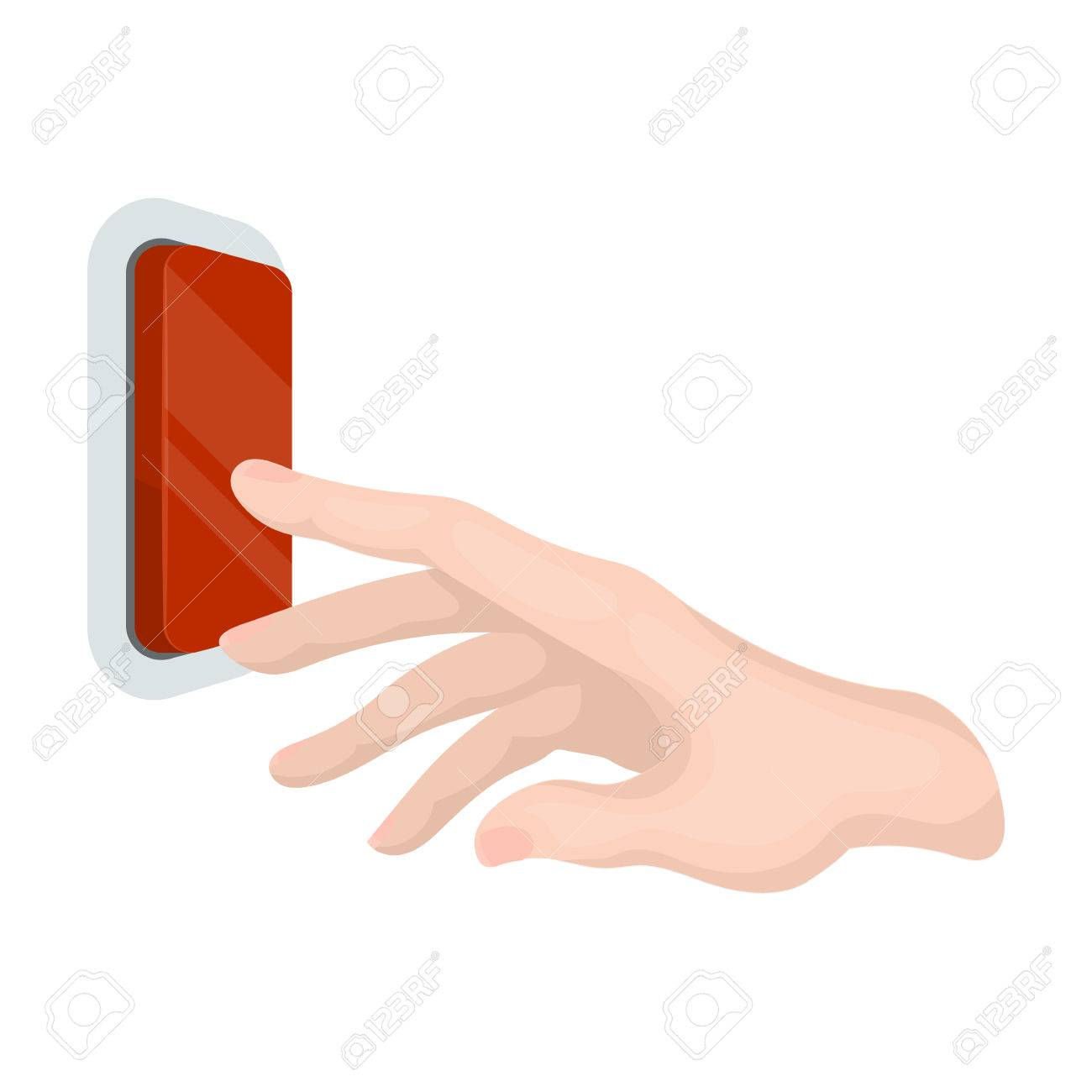 A Hand That Includes An Electric Switch Push Button Switch Single Royalty Free Cliparts Vectors And Stock Illustration Image 82723533