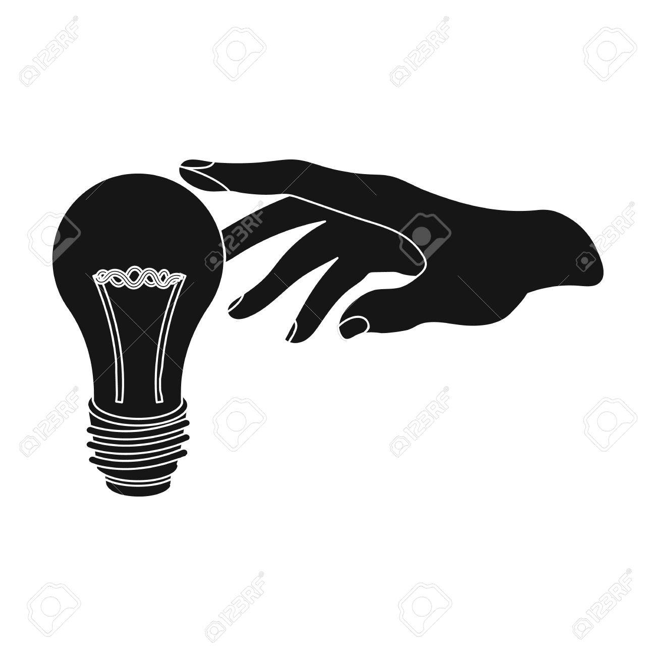 Replacement Of An Electric Bulb. Incandescent Lamp Single Icon ... for Incandescent Lamp Symbol  150ifm