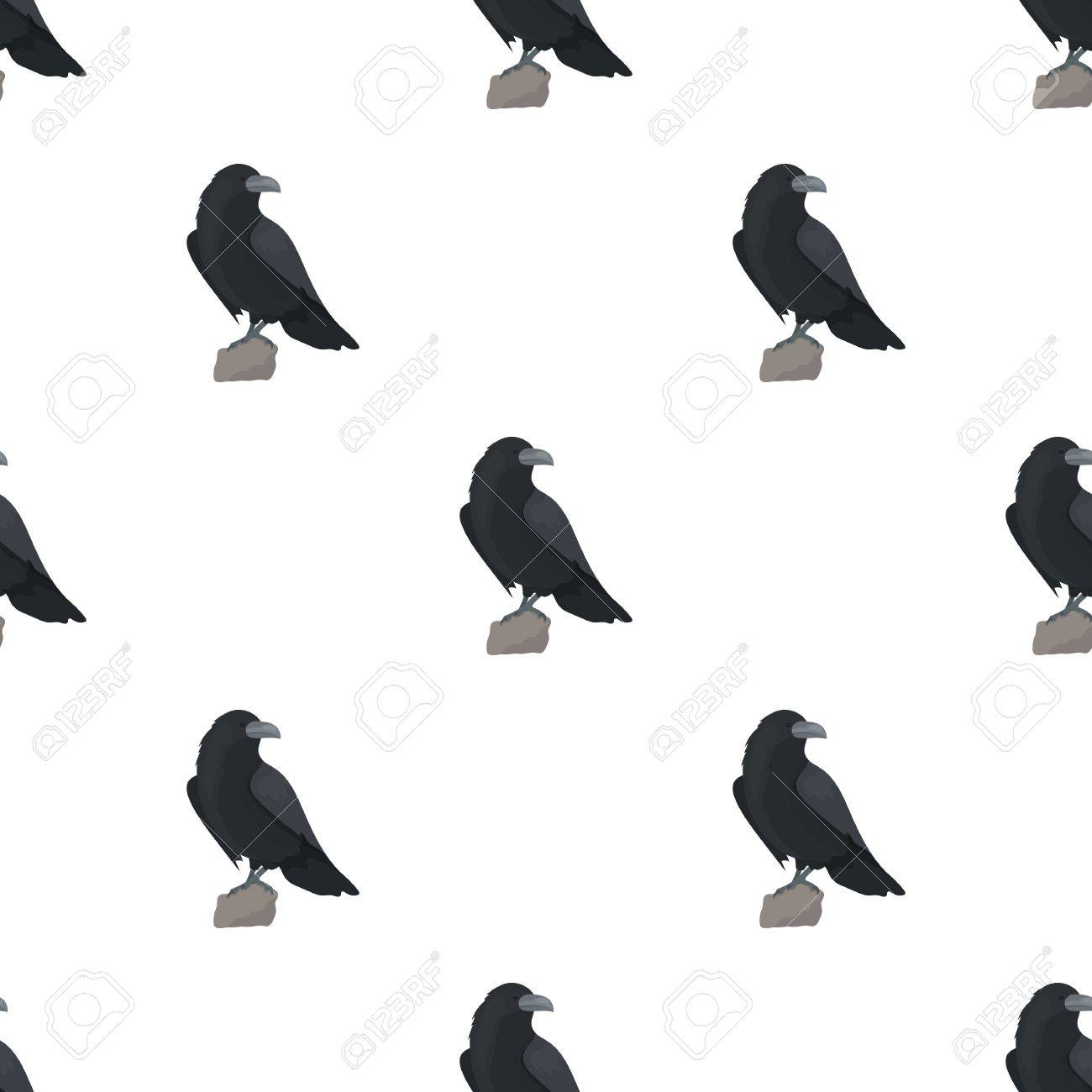 Crow of viking god icon in cartoon style isolated on white crow of viking god icon in cartoon style isolated on white background vikings symbol stock biocorpaavc