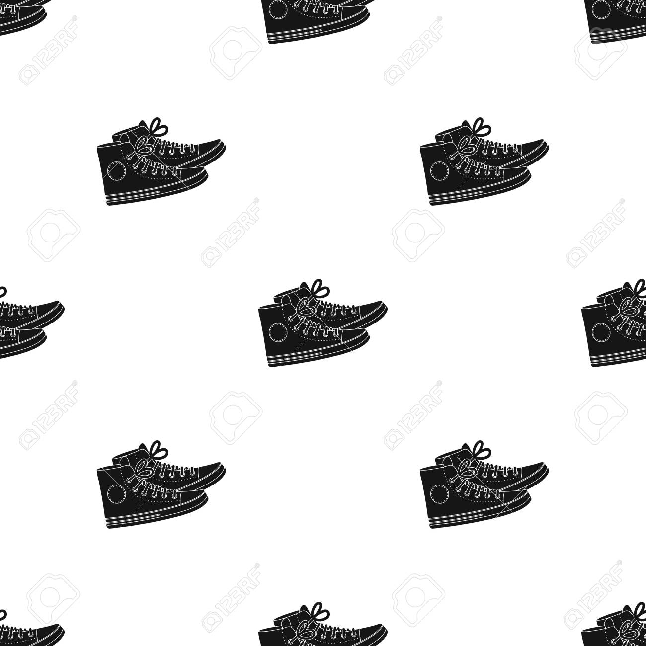 Red Gumshoes Icon In Black Style Isolated On White Background