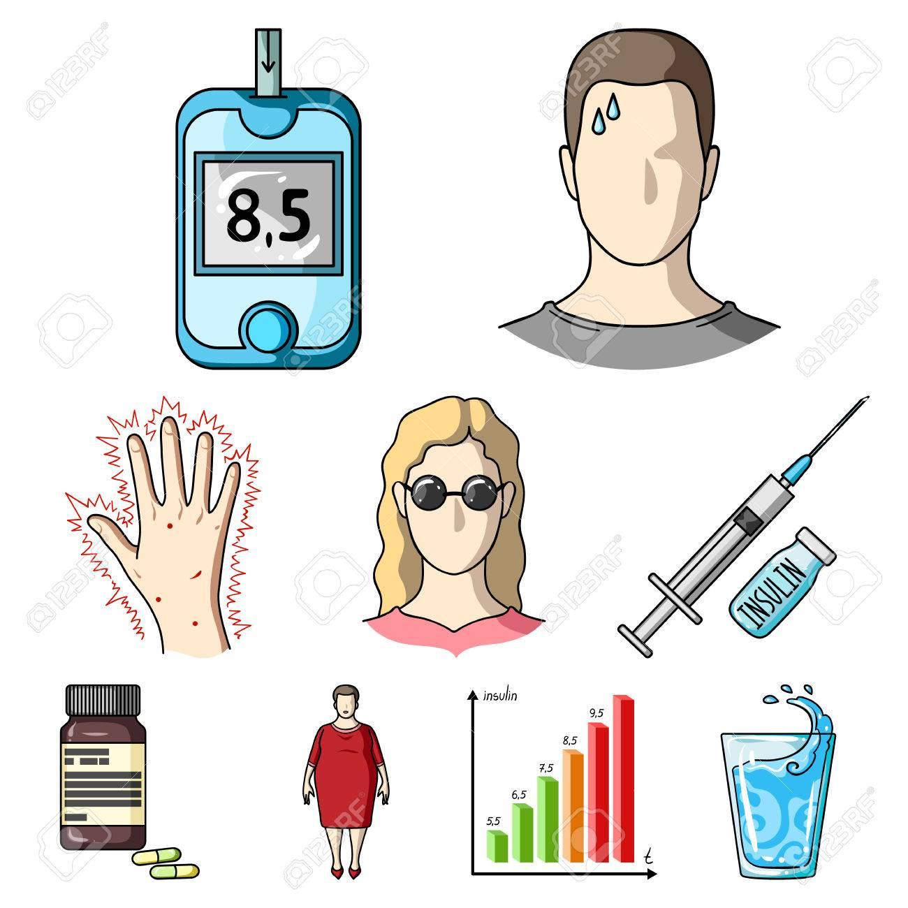 a set of icons about diabetes mellitus symptoms and treatment of rh es 123rf com free diabetes clipart images diabetes clipart pictures