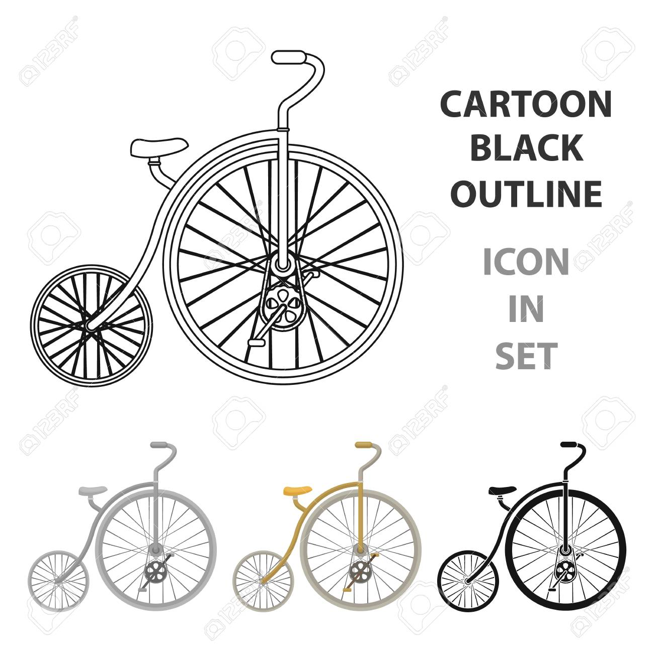Icone De Velo Vintage En Illustration Stock De Symbole De Vecteur De