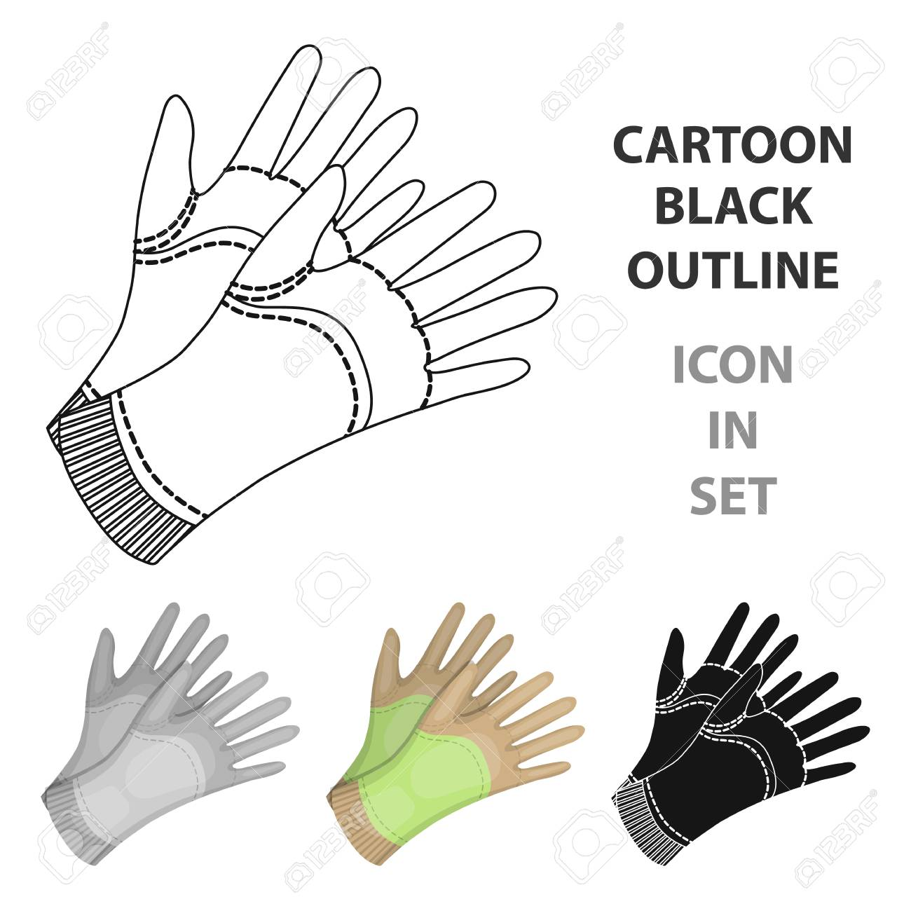Garden gloves to work with the land in the garden. Protective..