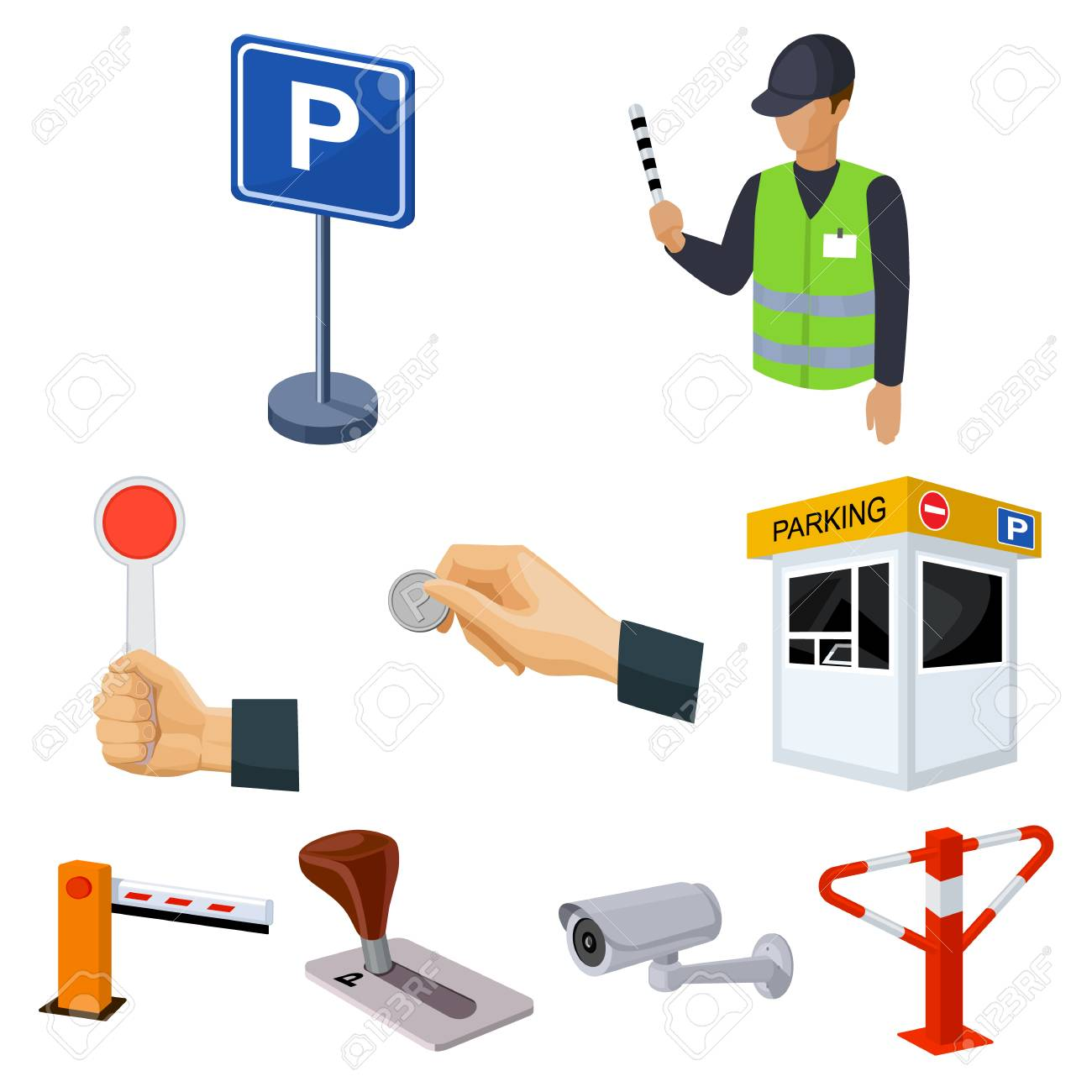 A set of icons for parking cars and bicycles fines and elements a set of icons for parking cars and bicycles fines and elements of parking buycottarizona