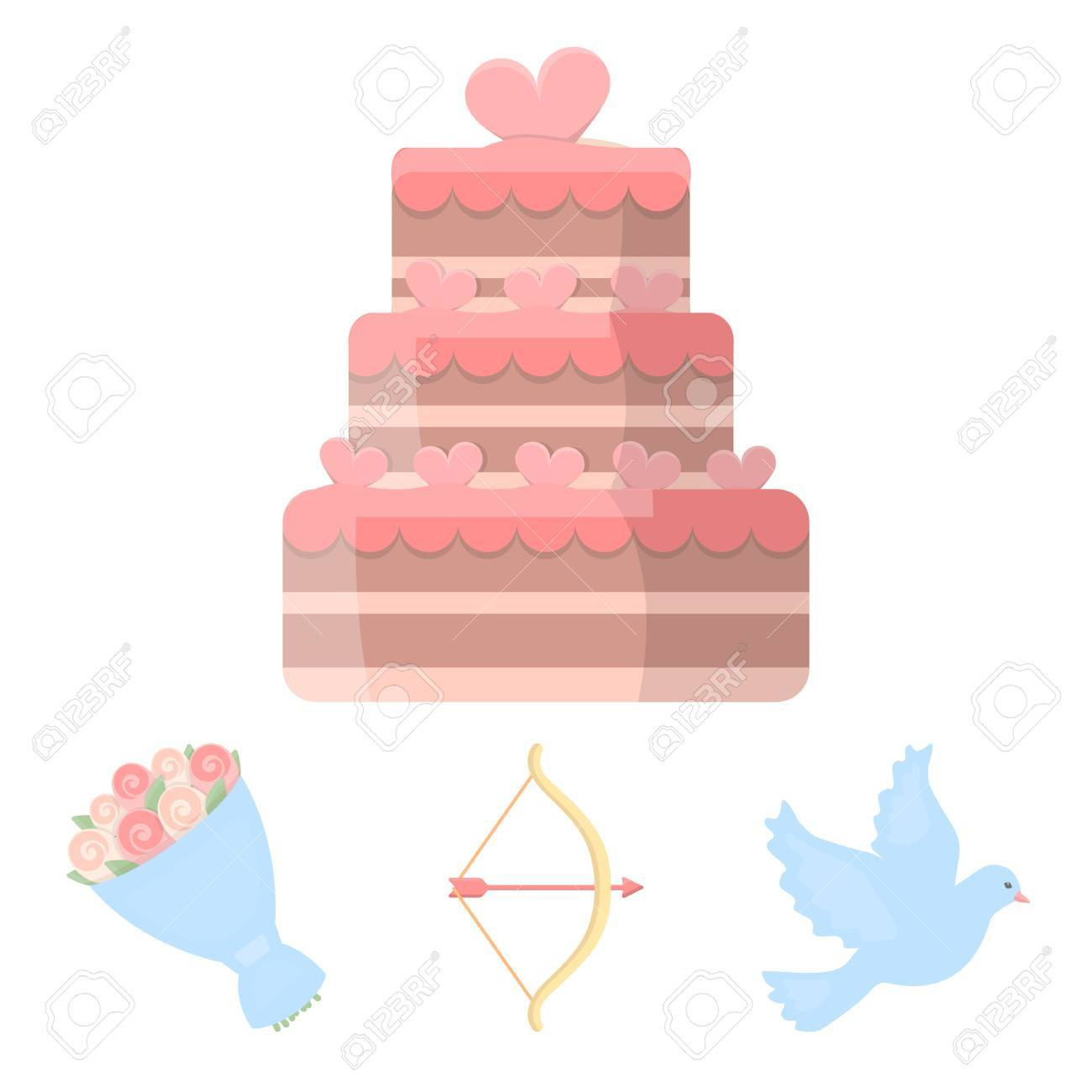 Arrow cupid dove bouquet of flowers wedding cake wedding arrow cupid dove bouquet of flowers wedding cake wedding set collection icons biocorpaavc Image collections