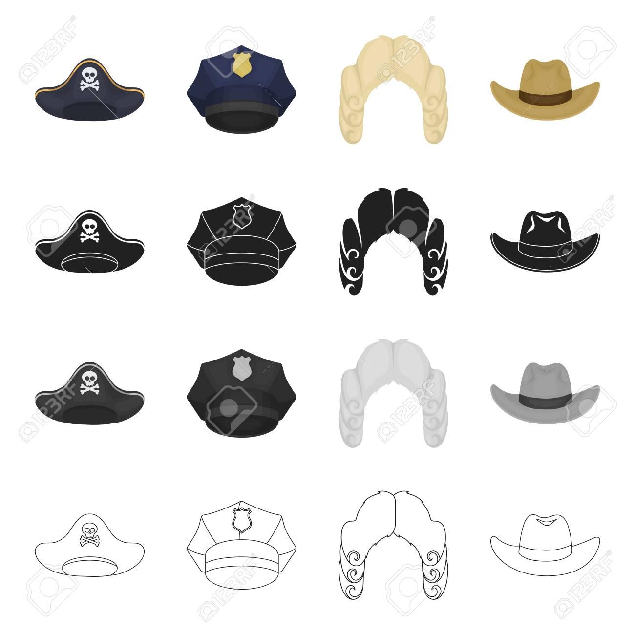 c84605d2095 A pirate's cocked hat, a police cap, a judge's wig, a cowboy...