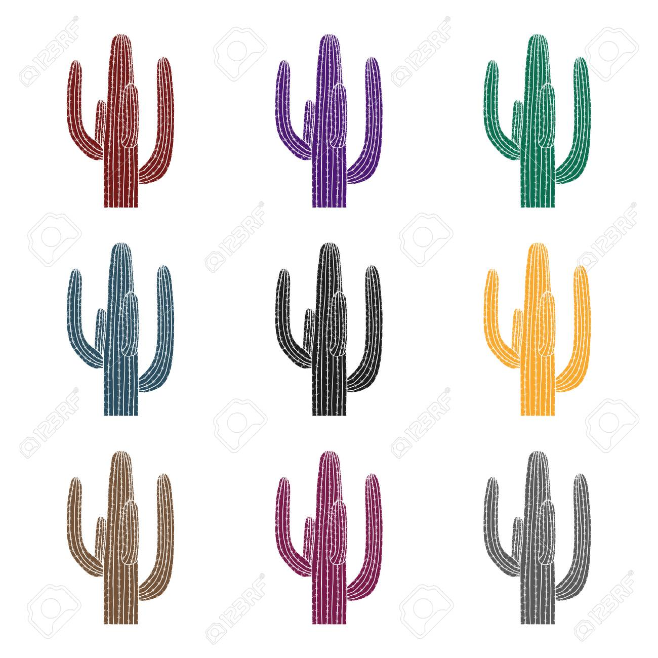 Mexican Cactus Clipart Black And White