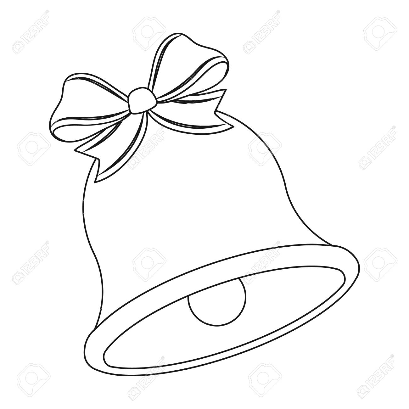 Christmas Bell Images.Christmas Bell Single Icon In Outline Style For Design Christmas