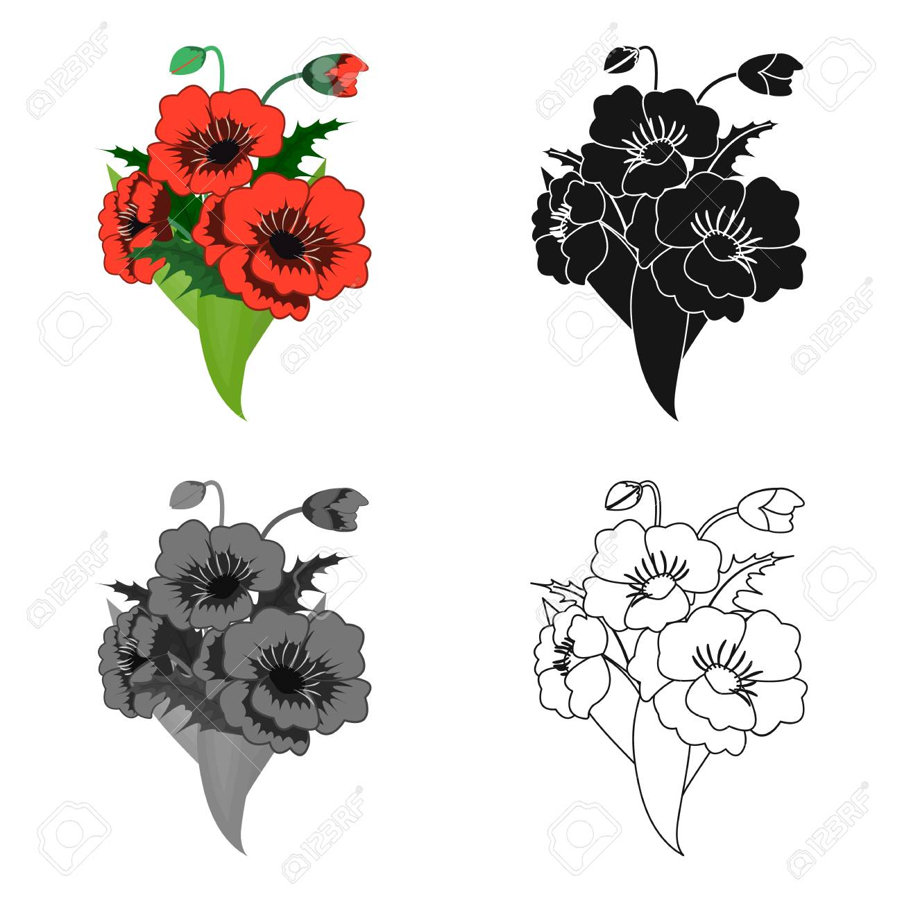 A bouquet of fresh flowers single icon in cartoonblackmonochrome a bouquet of fresh flowers single icon in cartoonblackmonochromeoutline style izmirmasajfo