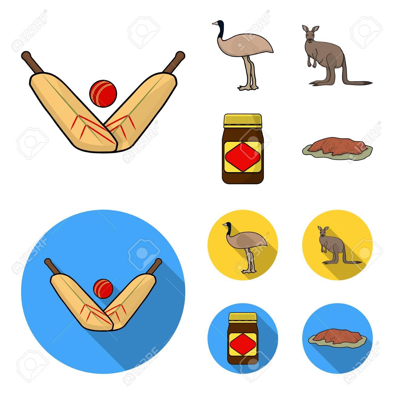 a game of cricket an emu ostrich a kangaroo a popular food rh 123rf com Cartoon Crickets Insect Funny Cricket Cartoons