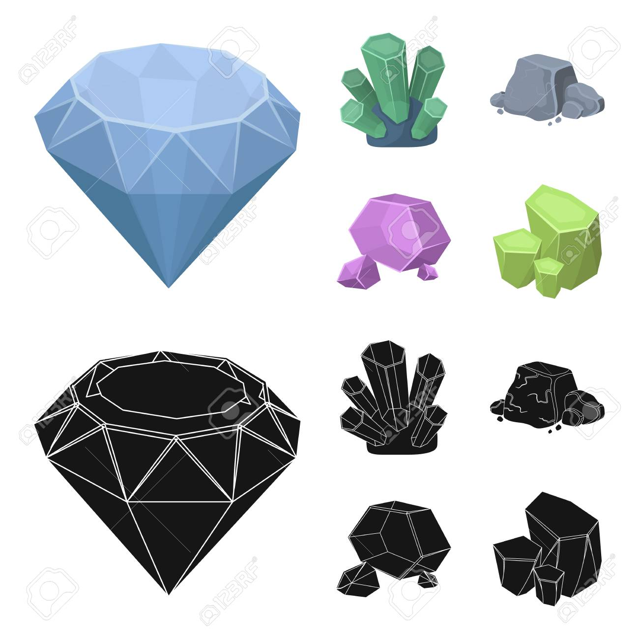 Crystals Iron Ore Precious Minerals And A Jeweler Set Collection