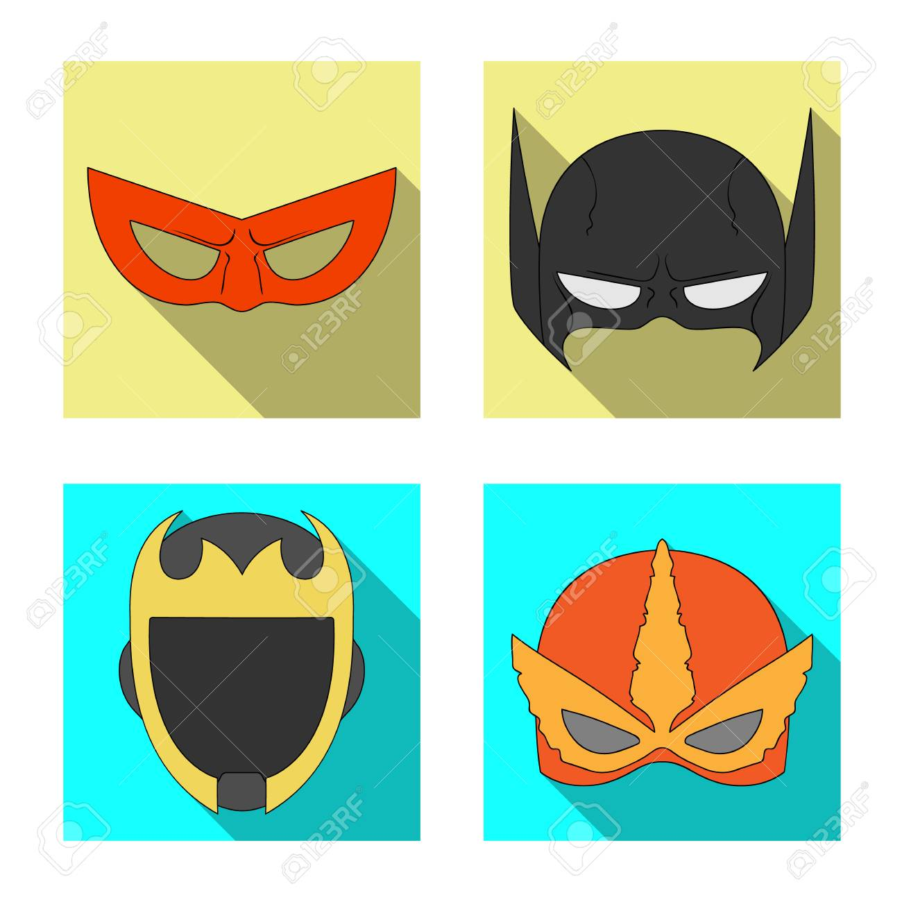 Isolated Object Of Hero And Mask Icon Collection Of Hero And