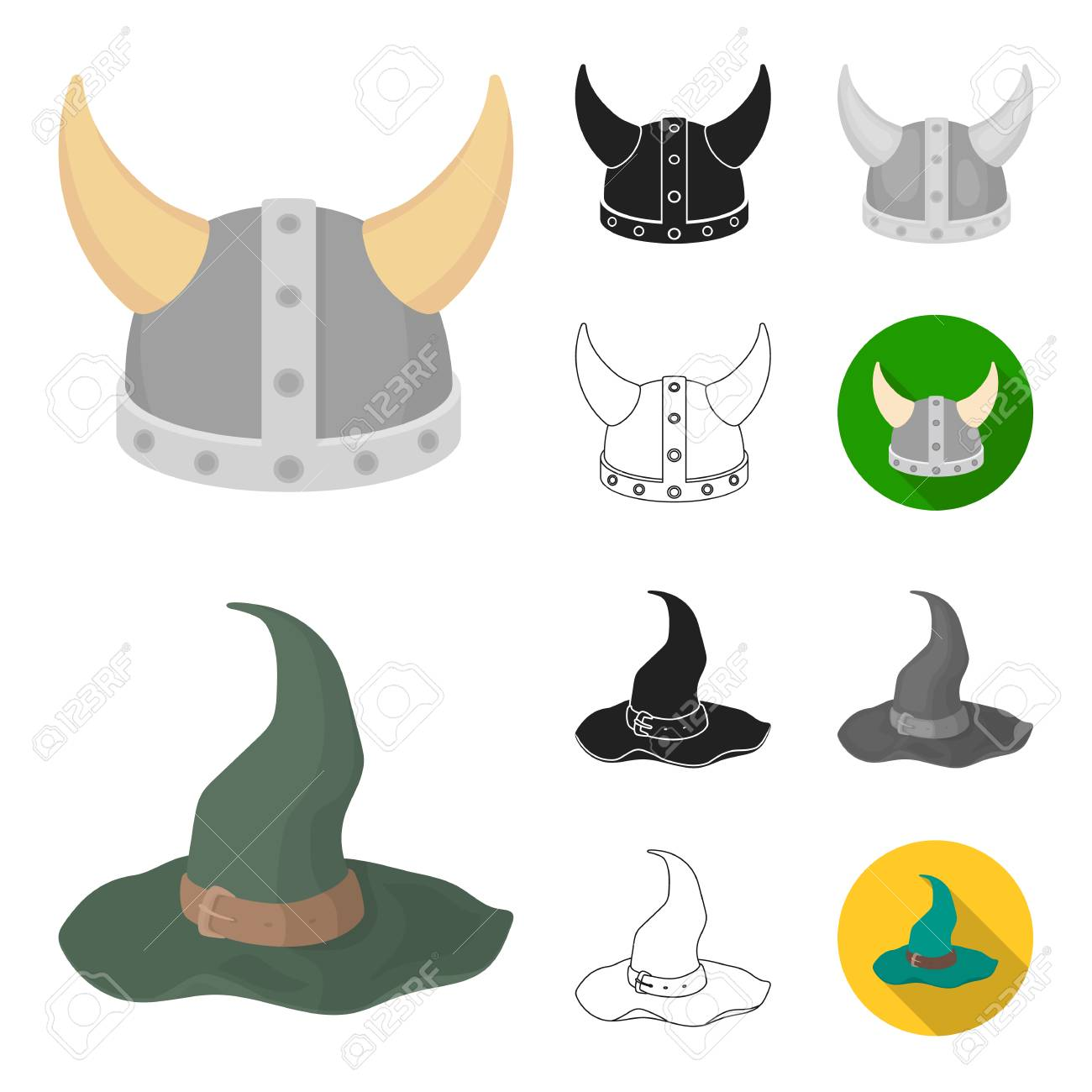 0a220c7cefc92 ... collection for design.Headdress bitmap symbol stock illustration. Different  kinds of hats cartoon