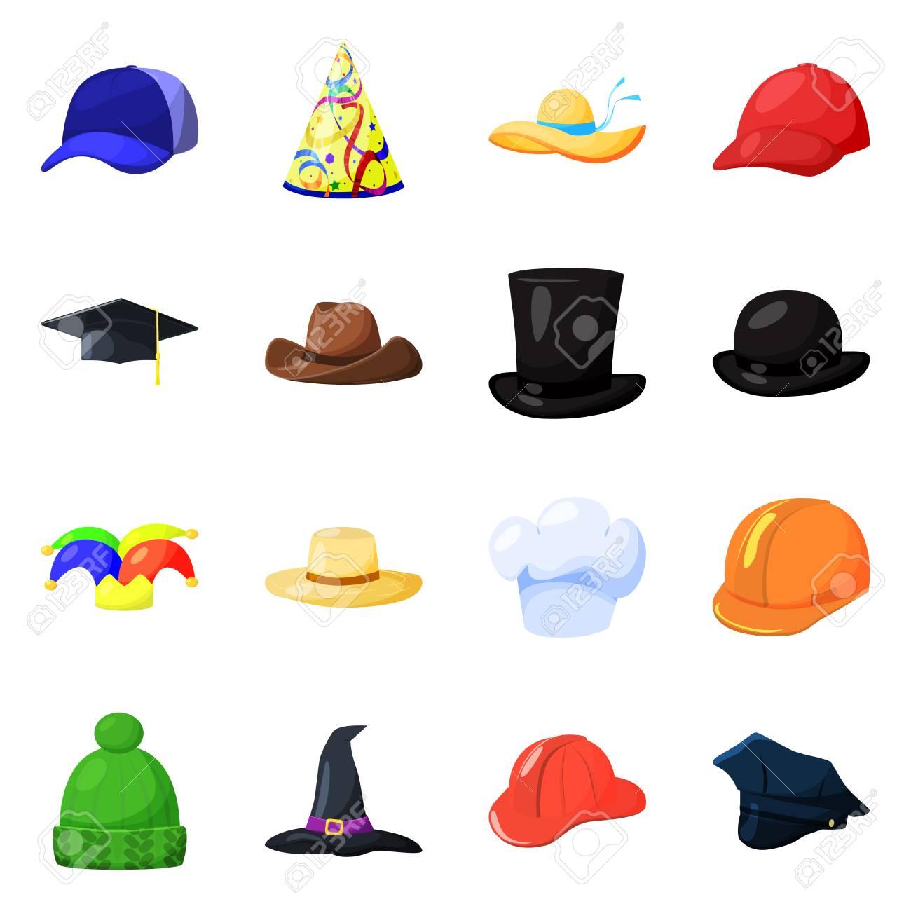 Vector illustration of headgear and napper logo. Collection of headgear and helmet vector icon for stock. - 126078778
