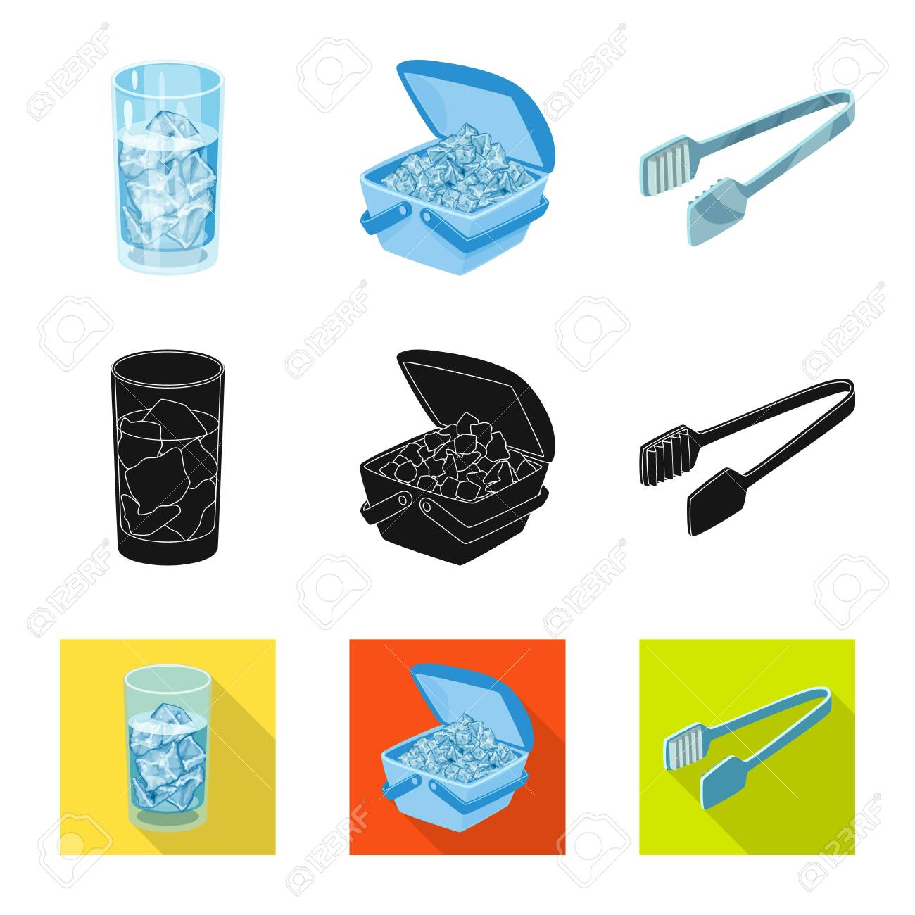 Isolated object of texture and frozen icon. Set of texture and transparent stock vector illustration. - 124123535
