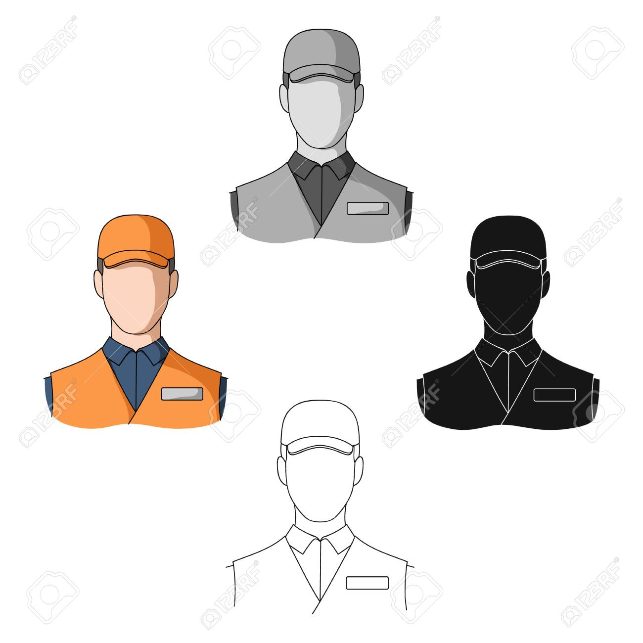 Man single icon in cartoon,black style.Man, vector symbol stock illustration web. - 124191644