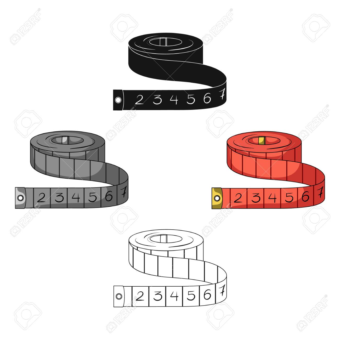Red Roulette Seamstresses.Sewing or tailoring tools kit single icon in cartoon,black style vector symbol stock illustration. - 125099154