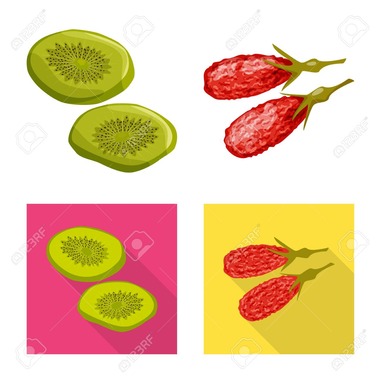 Isolated object of food and raw icon. Set of food and nature vector icon for stock. - 129845101