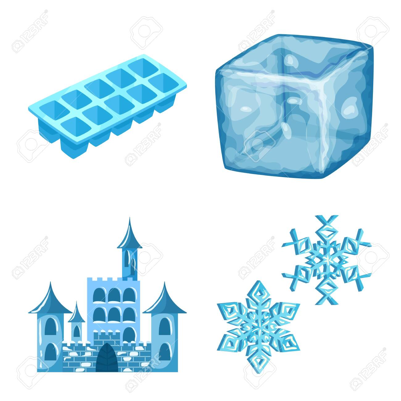 Isolated object of frost and water . Set of frost and wet vector icon for stock. - 143495747