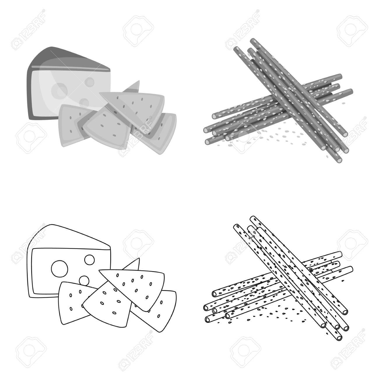 Vector design of taste and seasoning. Set of taste and organic stock vector illustration. - 143495756