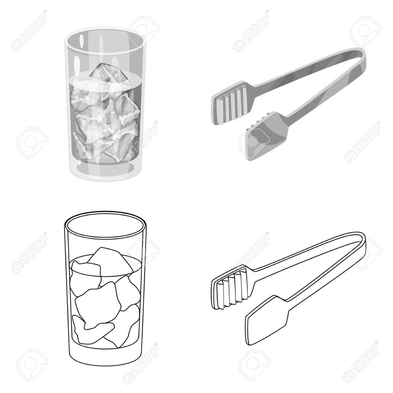 Vector design of texture and frozen . Set of texture and transparent vector icon for stock. - 143495919