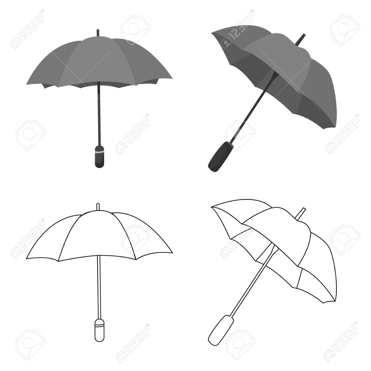 Vector illustration of protection and closed . Collection of protection and rainy stock vector illustration. - 143495914
