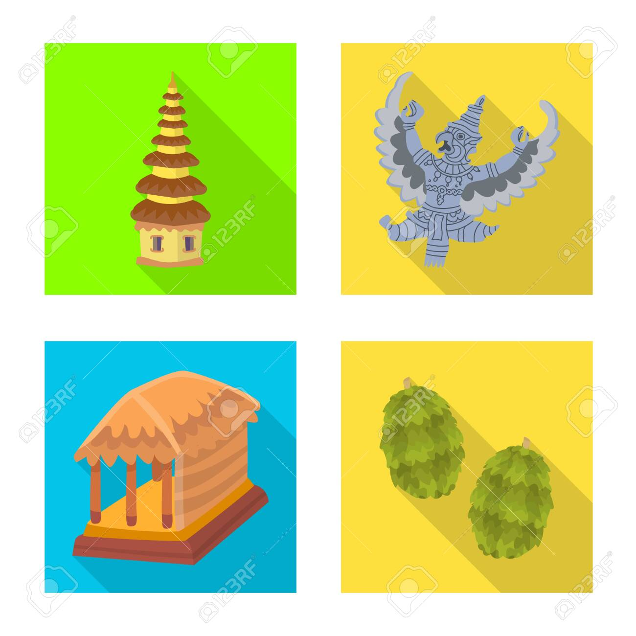Vector design of travel and tourism . Set of travel and island stock vector illustration. - 143495911