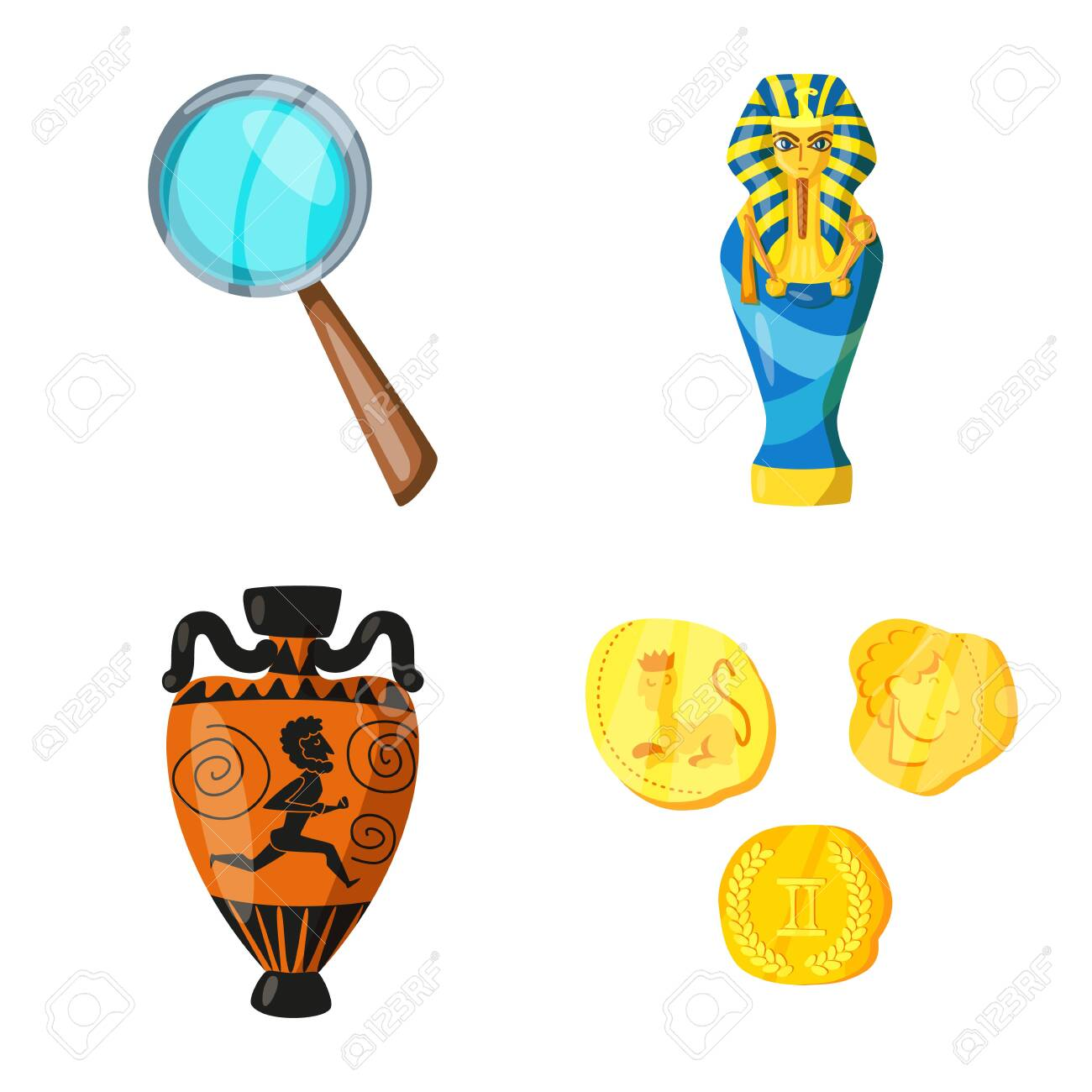 Vector design of archaeology and historical . Collection of archaeology and excavation vector icon for stock. - 143495910