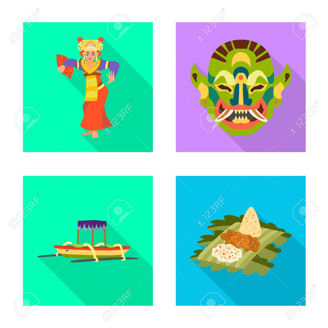 Vector design of travel and tourism sign. Collection of travel and island vector icon for stock. - 143495927
