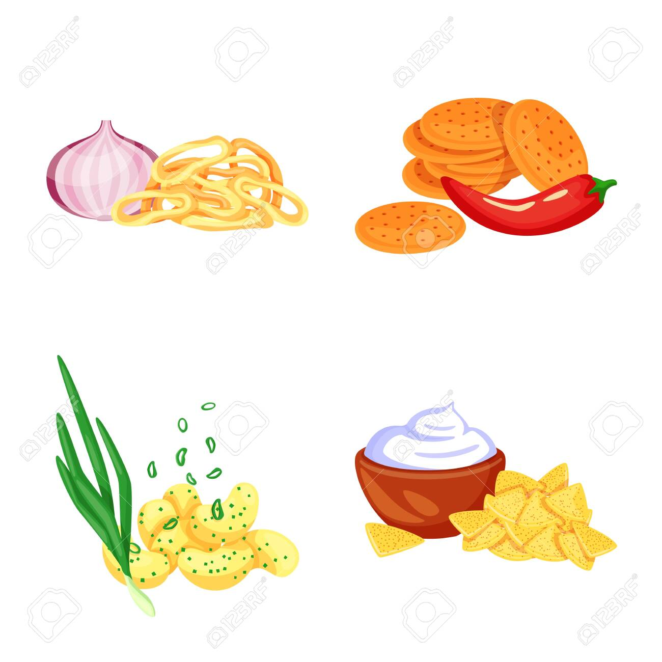 Vector illustration of food and product sign. Collection of food and party stock symbol for web. - 143496082