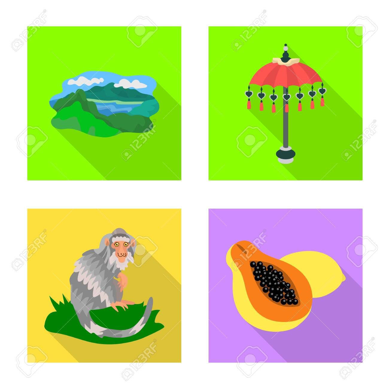 Isolated object of travel and tourism icon. Set of travel and island vector icon for stock. - 143496085