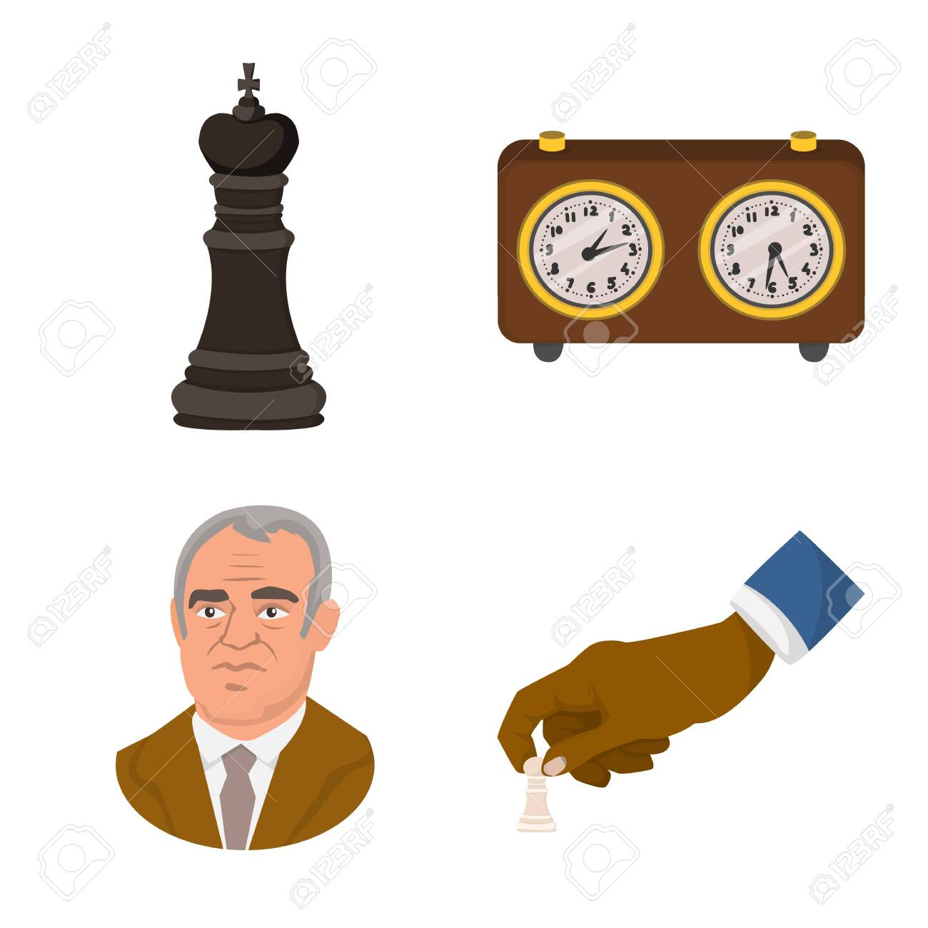 Vector illustration of chess and game sign. Set of chess and strategy vector icon for stock. - 143496091