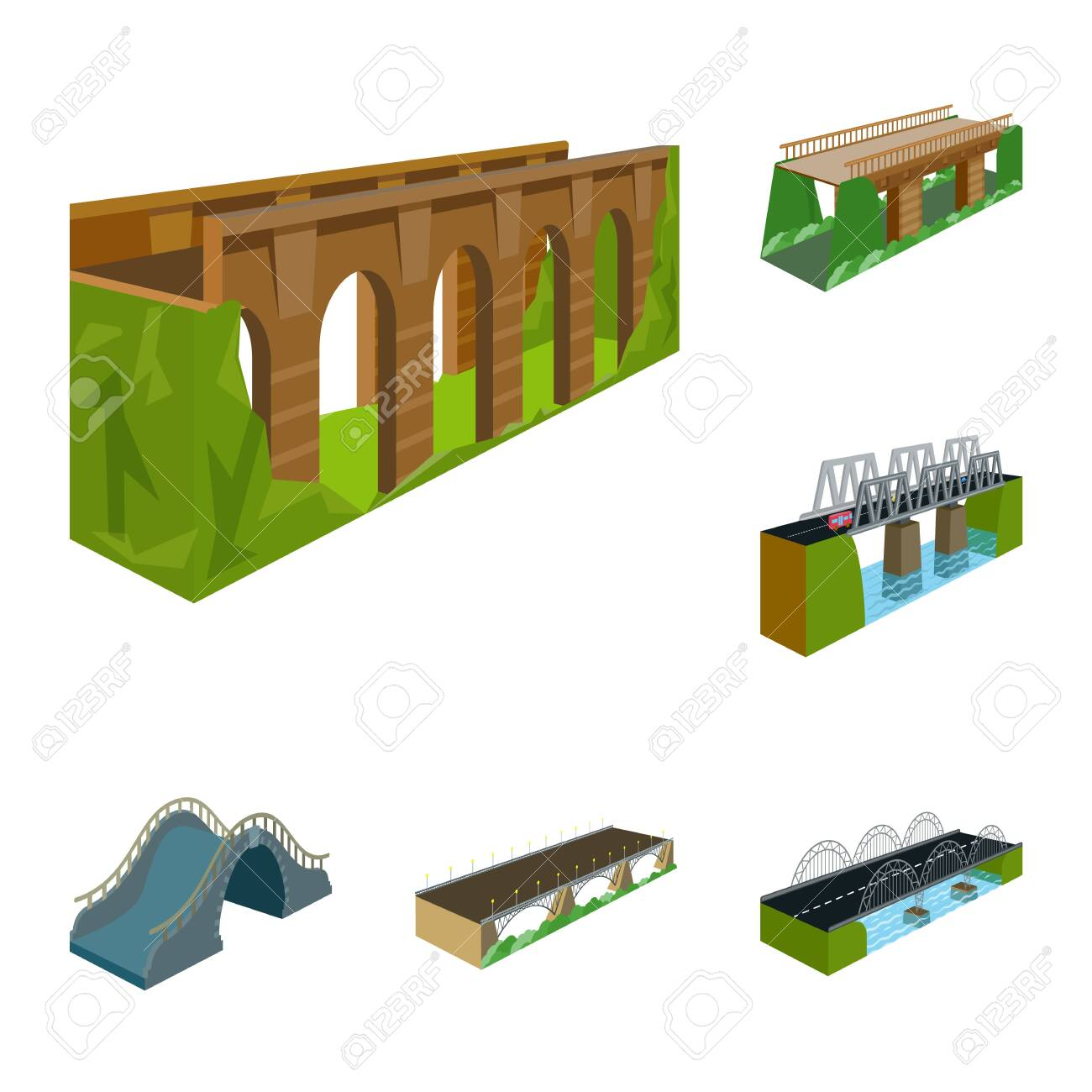 Vector illustration of bridgework and architecture symbol. Collection of bridgework and structure stock vector illustration. - 143496218