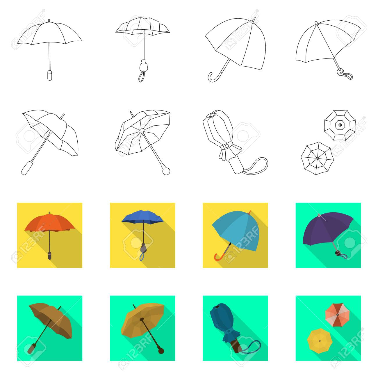 Vector design of protection and closed sign. Collection of protection and rainy stock vector illustration. - 143496222