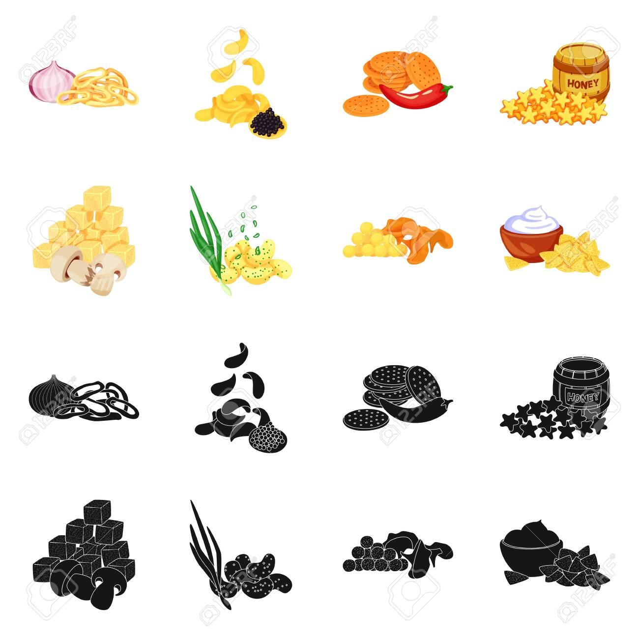 Isolated object of taste and seasonin icon. Set of taste and organic stock symbol for web. - 143496226