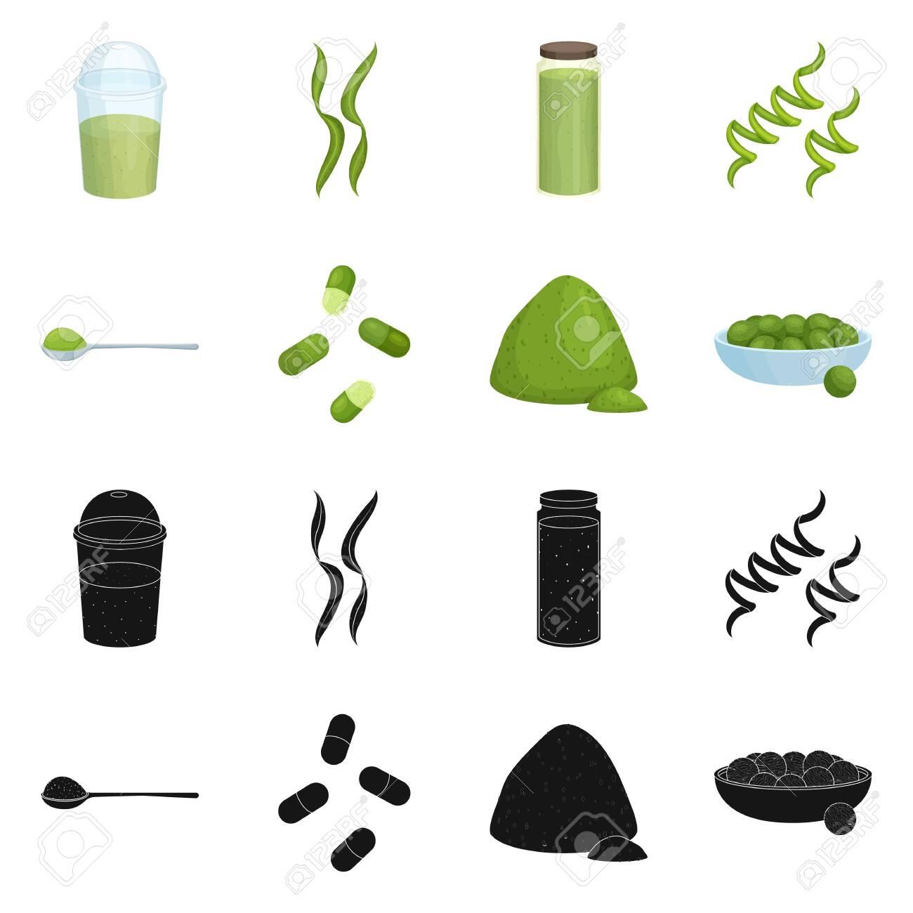 Vector design of protein and sea symbol. Collection of protein and natural stock symbol for web. - 143496227