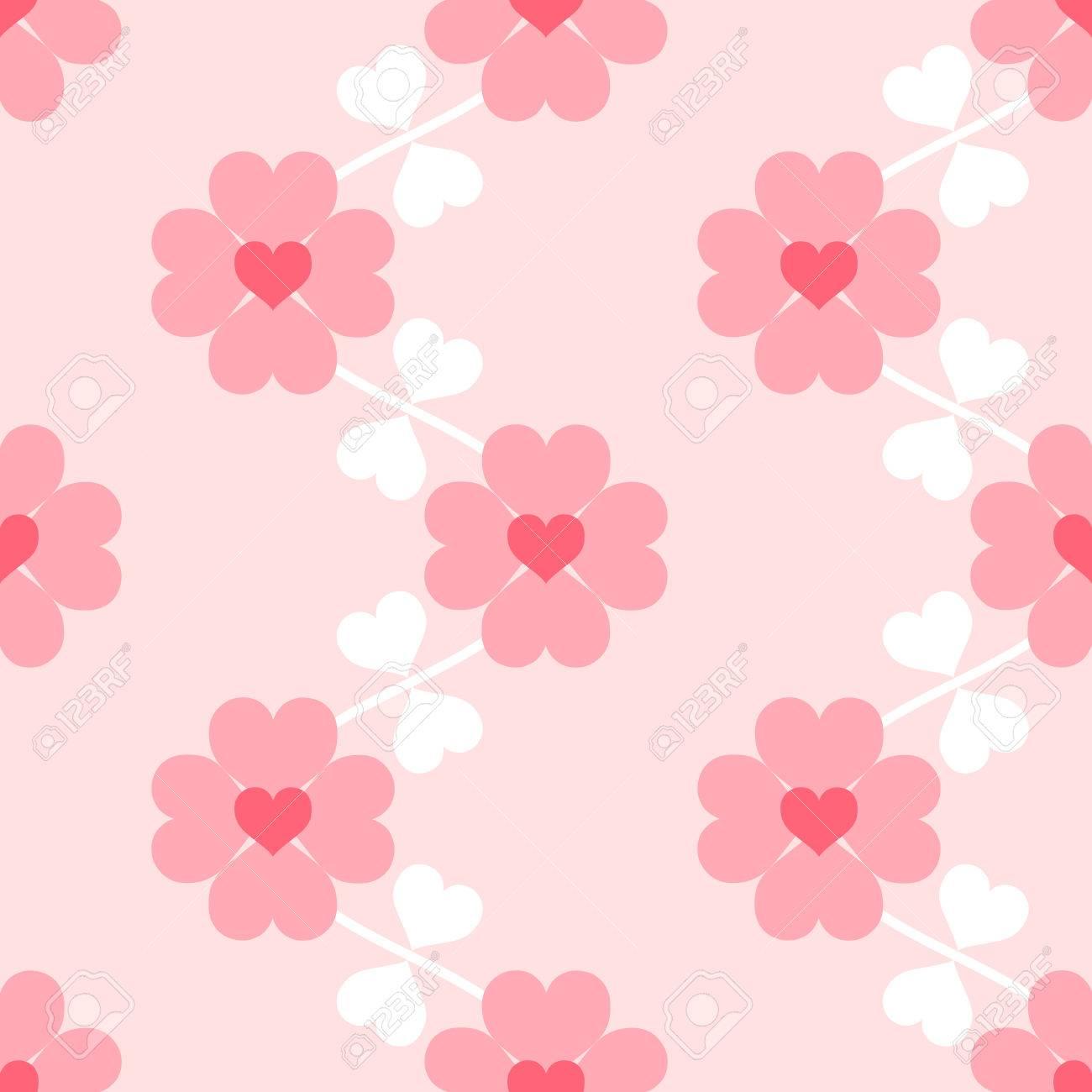 ハート花ソフト シームレスな壁紙のイラスト素材 ベクタ Image