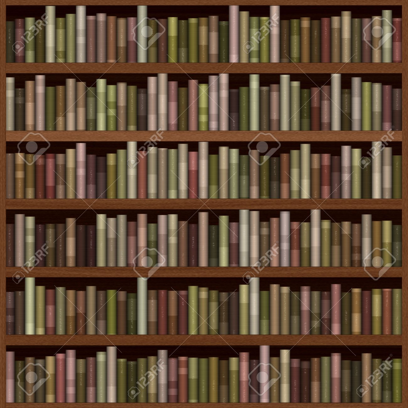 Bookshelf Generated Hires Texture Stock Photo