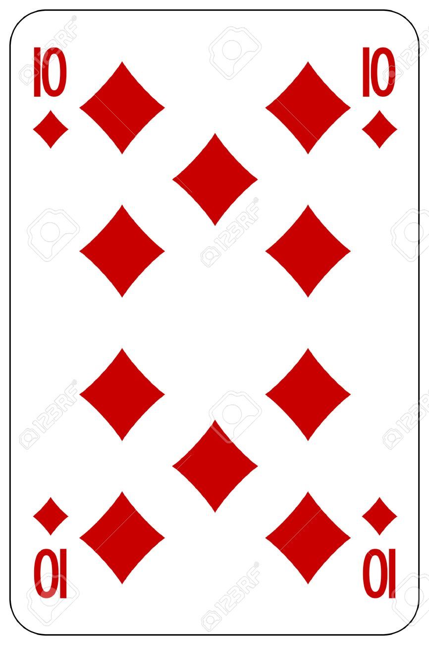 poker playing card 10 diamond royalty free cliparts vectors and rh 123rf com Playing Card Suits Clip Art Girl Playing Cards Clip Art