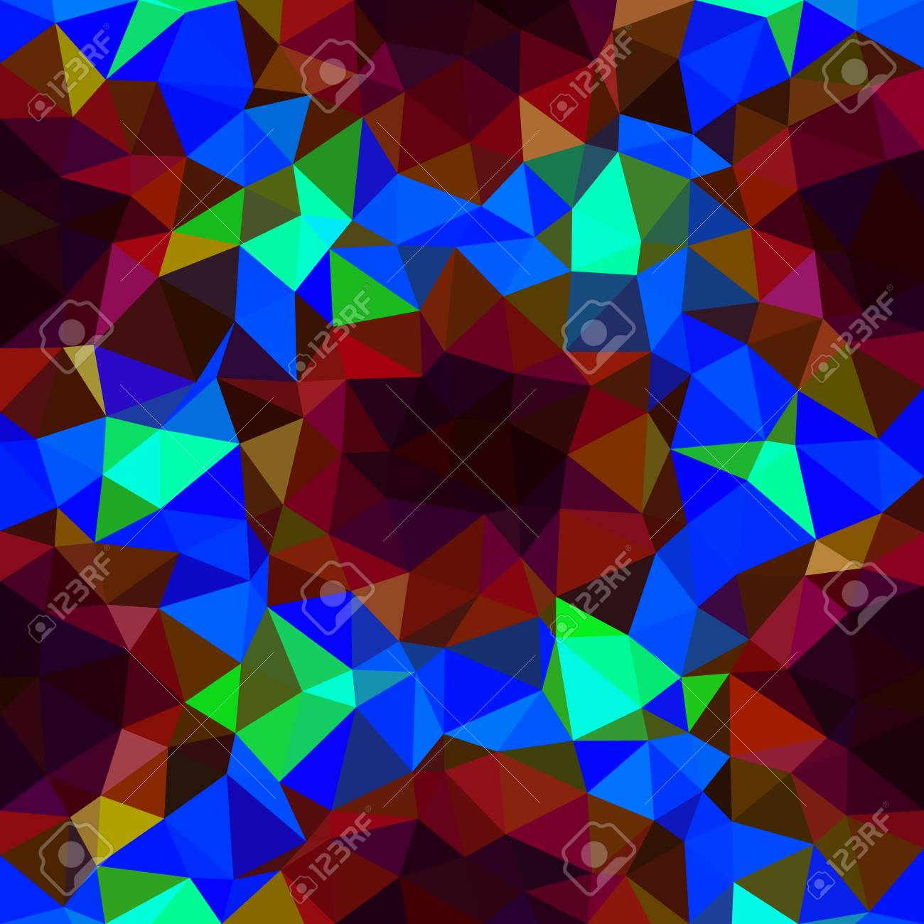 Banco De Imagens   Kaleidoscopic Low Poly Triangle Style Vector Mosaic  Background.
