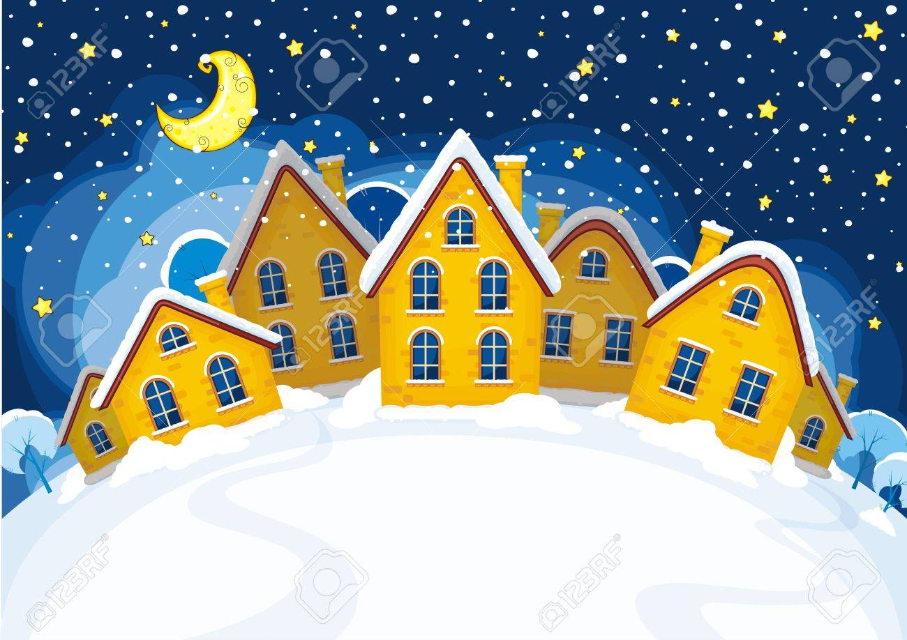 Vector illustration of Christmas suburbs Stock Vector - 16454066